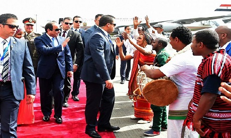 El-Sisi in Addis Ababa
