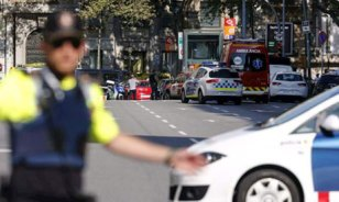 Image result for Van mows down crowd in Barcelona, 13 reported killed
