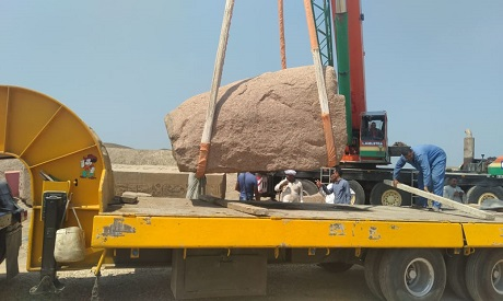 Pieces of Ramses II obelisk arrive in Cairo for re-assembly