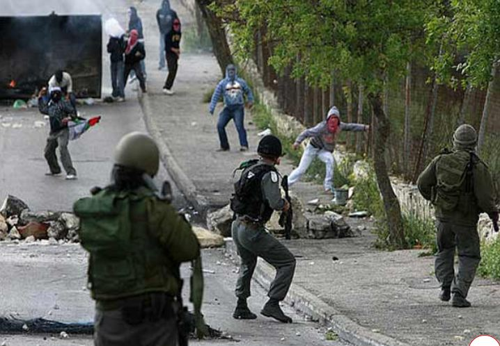Clashes between Palestinian youths and Zionist occupation soldiers