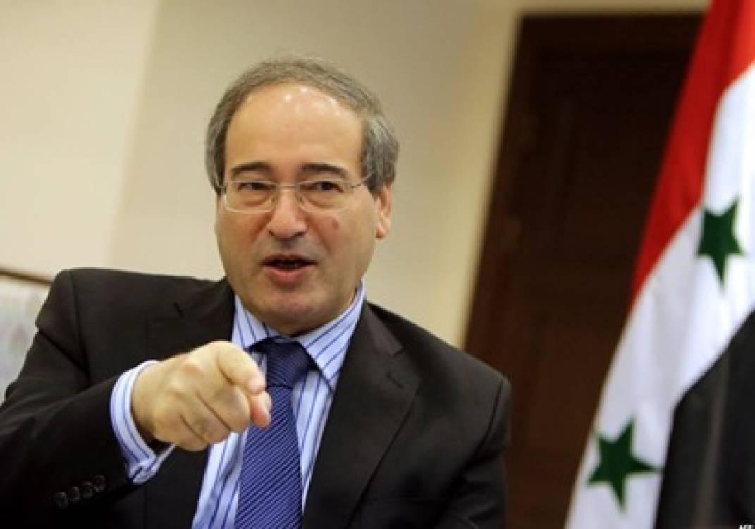 Syrian deputy Foreign Ministry Faissal al-Moqdad