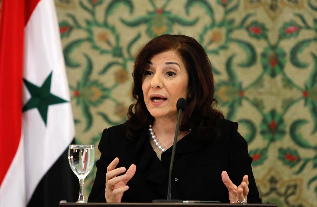 Syrian president's political adviser Buthaina Shaaban