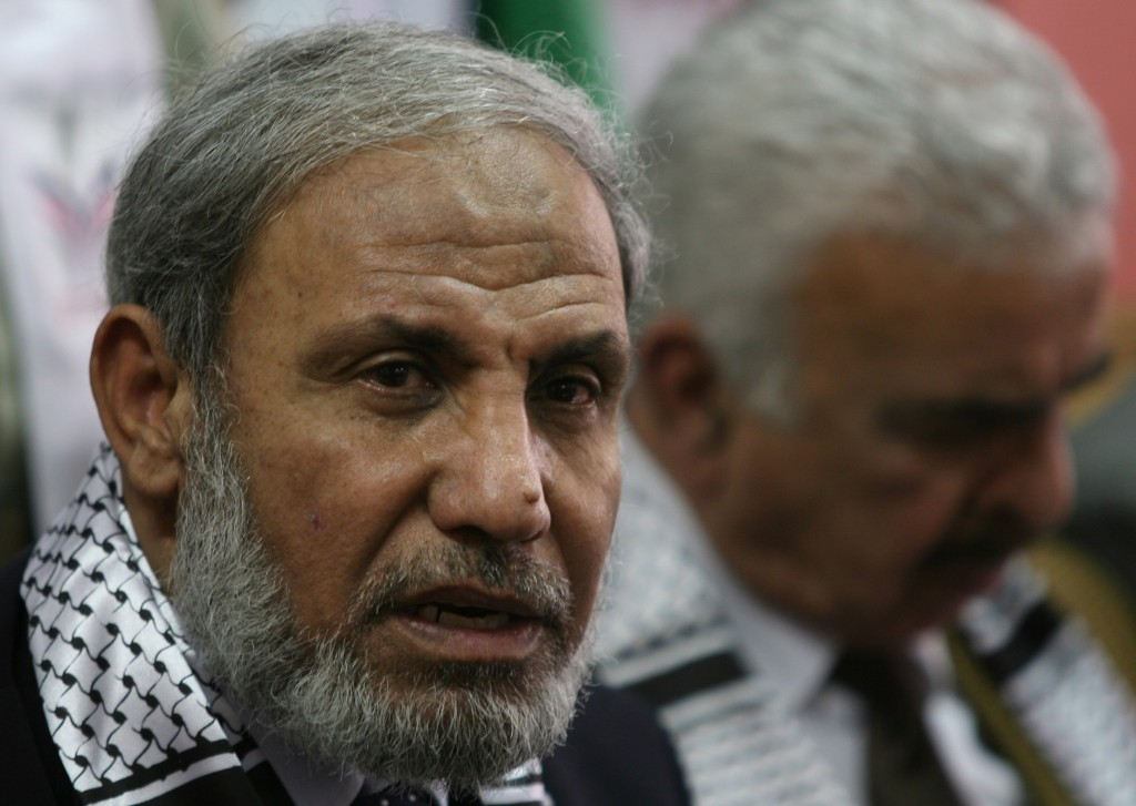 Hamas official, Mahmoud Zahhar
