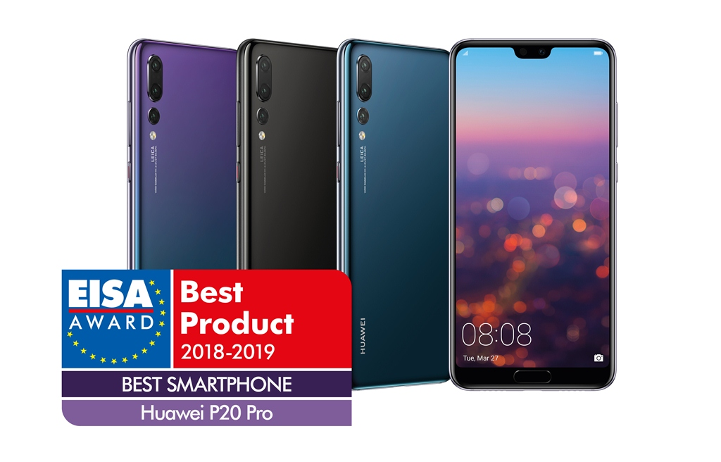 EISA Awards the HUAWEI P20 Pro For Being The Most Advanced, Innovative & Technically Superior Smartphone Ever