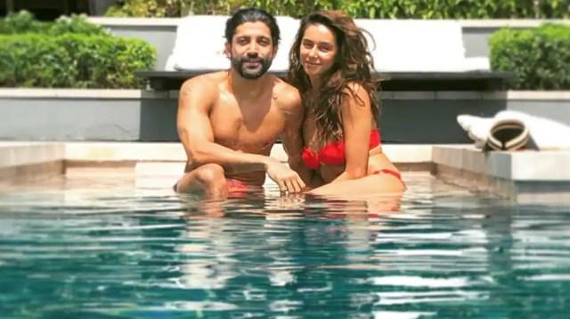 Shibani Dandekar sizzles in red bikini as she holidays in Thailand with  boyfriend Farhan Akhtar - newsdezire