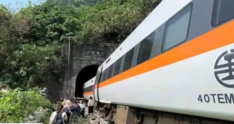 At least 48 killed in Taiwan's deadliest rail disaster as truck knocks train off tracks