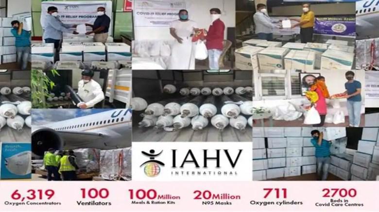 IAVV COVID-19 ने 100 करोड़ रुपये की राहत प्रदान करके राहत कार्यों में प्रभावशाली छाप छोड़ी है।