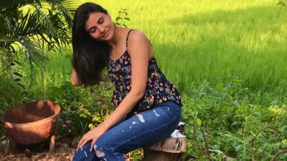 Deepak Chahar's sister, Malti, stands outdoors.  (Source: Twitter)