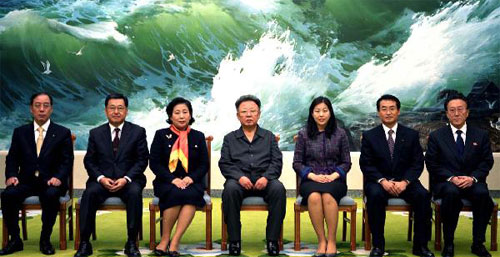 Kim Jong-Il with Hyundai Group Delegation in Pyongyang, November 2 2007