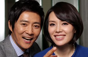 Choi Soo-jong (left) and Ha Hee-ra