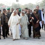 Sheikh Hasina prefers to walk discarding motorcade in Tungipara
