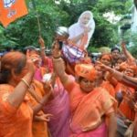 'The lion returns' — Modi fans paint the town saffron