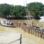 Breach closing of embankments progressing in Gaibandha