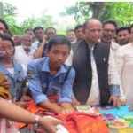 Railways Minister visited fire affected area in Panchagarh