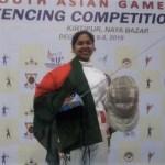 Fatema wins gold in SAG fencing
