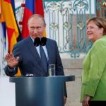 Merkel-Putin talks in Moscow Saturday over Mideast crisis: Berlin