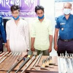 Two held with local weapons in Noakhali