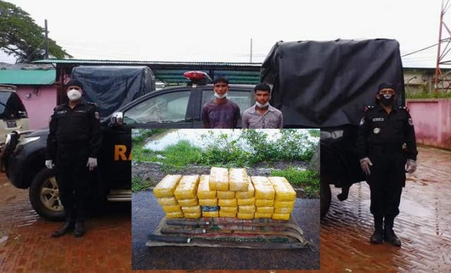 Two arrested with 3 lakh Yaba tablets by RAB in Teknaf
