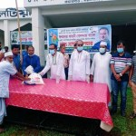 AL distributes food items among poor people in Gafargaon