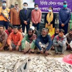 13 fishermen held with 400 baby sharks in Patharghata