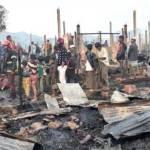 Fire burns down over 400 shanties in Rohingya camp