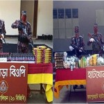 Joypurhat BGB seizes Tk 4 lakh smuggled Indian goods