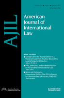American Journal of International Law AJIL