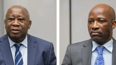 ICC-CPI Laurent Gbagbo y Charles Blé Goudé escuchan el veridicto de la Corte Penal Internacional en La Haya.