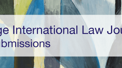 Call For Submissions: Cambridge International Law Journal (215189)