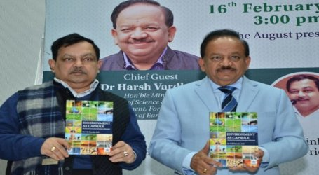 Dr. S.K.Nanda's book -'Environment as Capsule' launched by Minister Dr.Harsha Vardhan