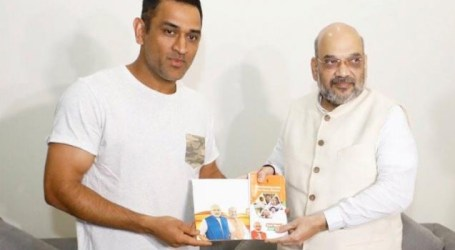 Amit Shah meets MS Dhoni as part of 'Sampark for Samarthan' programme