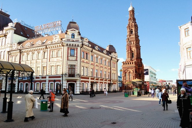 A walking tour of the street. Bauman Russia Kazan Tour 2