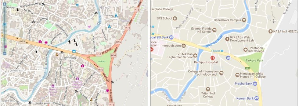 This is how digital mapping is pushing Nepal towards development and democracy google maps vs osm