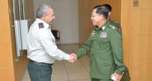eisenkot and burma's military chief