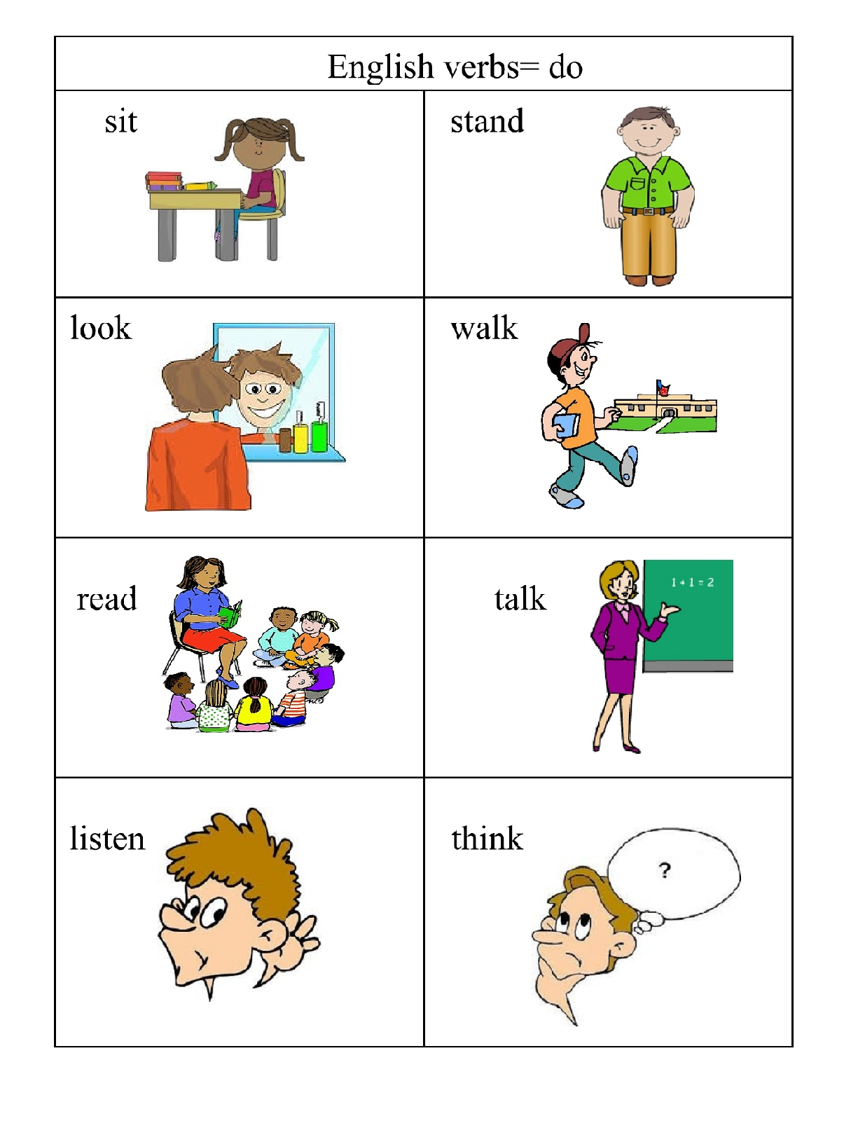Verbs Doing Words