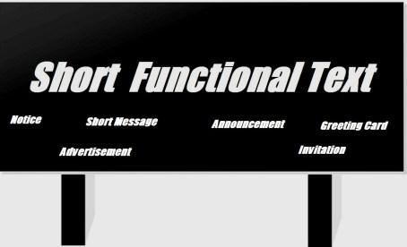 Pengertian dan Contoh Short Functional Text