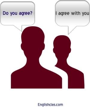 Cara mudah memepelajari Agreement and Disagreement,beserta Contoh dan Terjemahanya