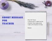 5 contoh Short Message untuk Guru dalam Bahasa Inggris