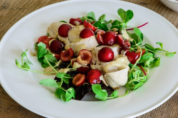 Spicy Chicken and Cherry Salad © Sue Todd 2014