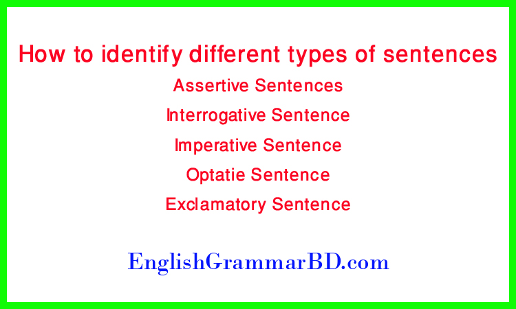 How to identify different types of sentences