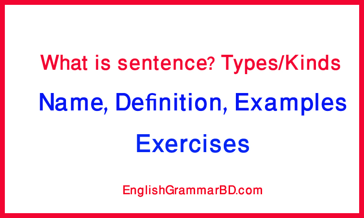 sentence-definition-types-examples-exercises
