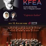 "Korean Flute Educators Association's Flute Orchestra presents their 11th Regular Concert ""Capriccio Italien"", Jang Cheon Art Hall, Seoul. 4 Dec 2013."