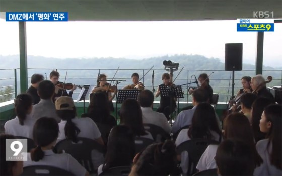 Professor and student join in concert for peace