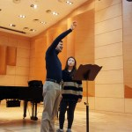 Davide Formisano teaches a masterclass with students of Philipp Jundt at the German School of Music Weimar, Kangnam University
