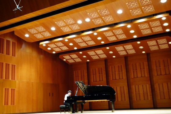 German School of Music Weimar piano student Lee Ji Sung performs at Jang Cheon Hall.(Photo: Charles Ian Chun)