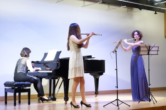 F. Doppler - Andante and Rondo, Op. 25 for Two Flutes and Piano - Ahn Hye-lim (piano), Park Hyesun (flute), Kathrin Christians (flute) - PHOTO: Charles Ian Chun