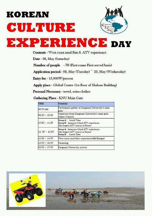 Korean Culture Experience Day poster