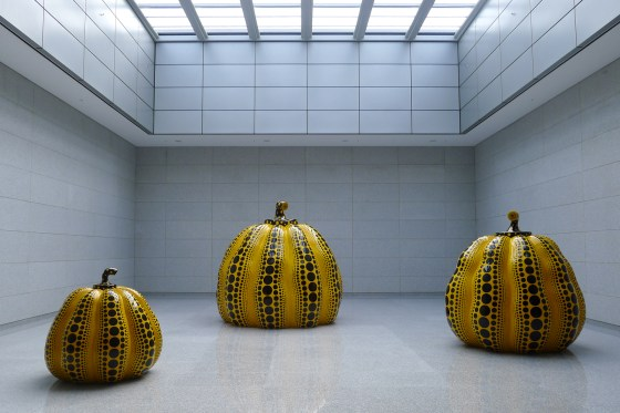 Great Gigantic Pumpkin by Kusama Yayoi, Daegu Art Museum. (Photo: Lee Su-hyun)