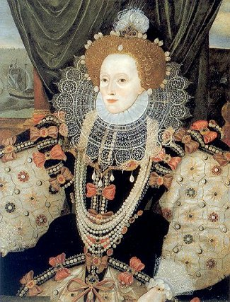 crop from the famous 'Armada Portrait' of Elizabeth I
