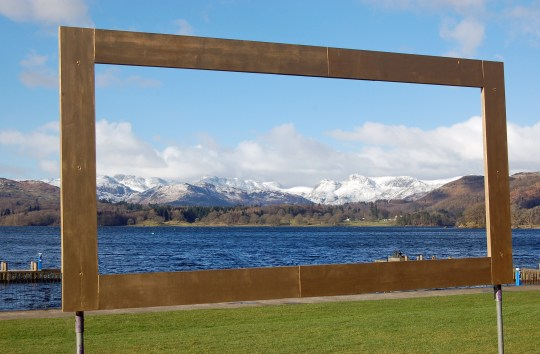 View Framed of Langdale Pikes